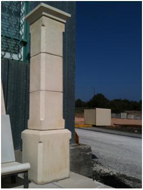 piliers en reconstituee