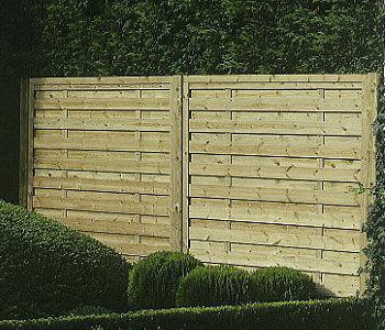 Panneaux ecran bois forme droite ou cintree - Panneau de bois pour jardin ...