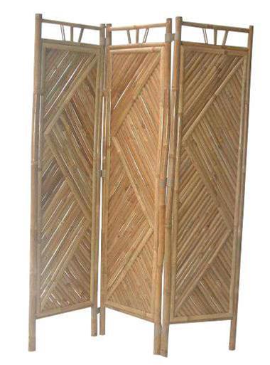 PARAVENT 2 en bambou naturel du VIETNAM