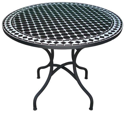 Table de jardin en fer modèle