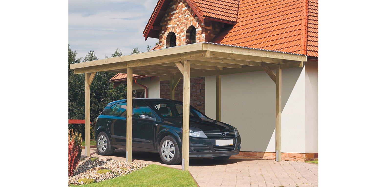 Abri pour voiture en bois