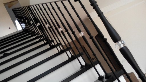 Garde-corps d'escalier français en cristal forgé